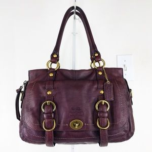 Coach Legacy Oxblood Vachetta Leather Garcia Bag